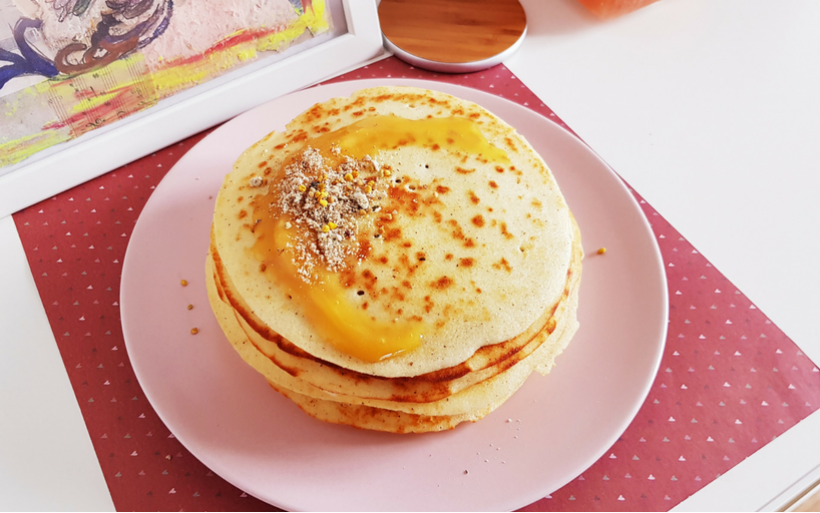 Безглутенови палачинки с оризово брашно и кисело мляко