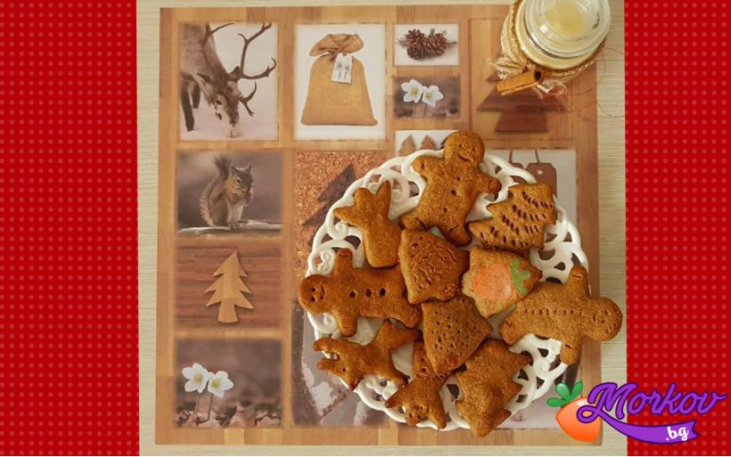 Коледни курабийки без захар - идеални за деца