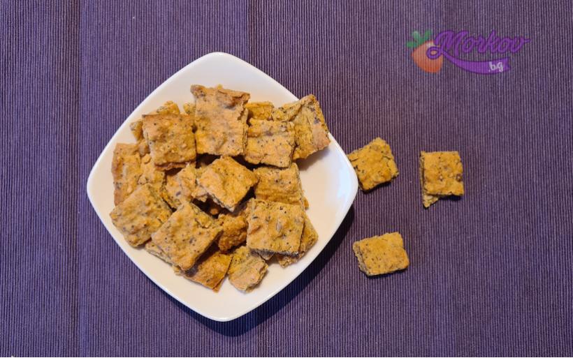 Нахутени крекери със семена - без точене