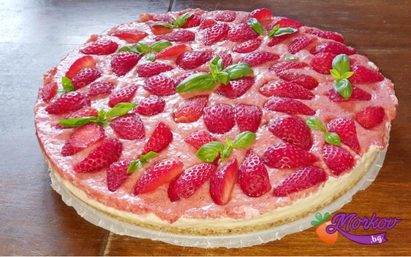 Лешникова торта с крем от кашу и плодове - без брашно и захар