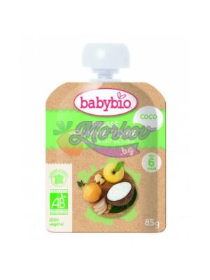 Био Кокосов йогурт с Ябълка и Круша Babybio - веган