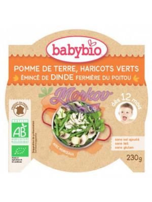 Био Пуешко със зелен фасул и картофи Babybio