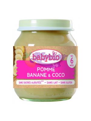 Био Ябълка, Банан и Кокосово мляко Babybio