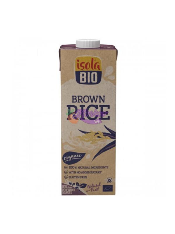 Био нерафинирано оризово мляко без захар Isola Bio