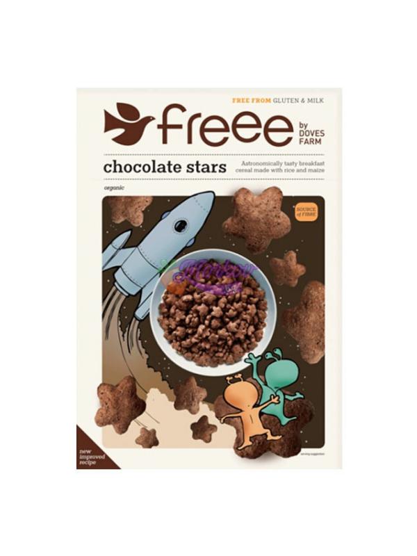 Био Шоколадови звездички - без глутен Doves Farm 300g