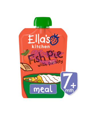 Био Сьомга с картофи, зеленчуци и млечен сос Ellas kitchen
