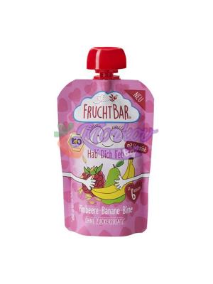"""Био Малина, Банан, Круша и овесено мляко """"Обичам те"""" Fruchtbar"""