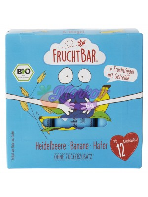 Био мюсли барове с боровинка и банан Fruchtbar