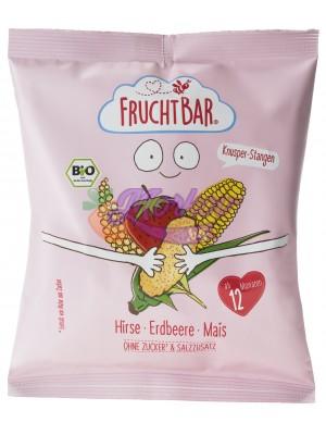 Био снакс - Пръчици от просо и царевица с ягода Fruchtbar