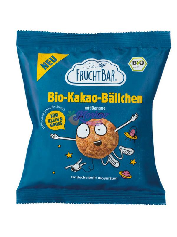 Био хрупкава закуска Какаови топчета с Банан Fruchtbar