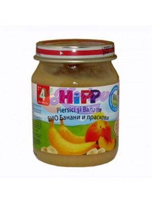 Био банани и праскови Hipp