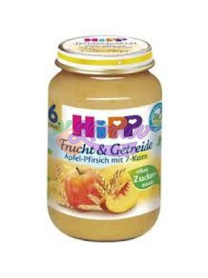 БИО Пълнозърнеста плодова каша Hipp