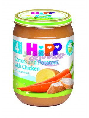 Био Моркови и картофи с пиле Hipp