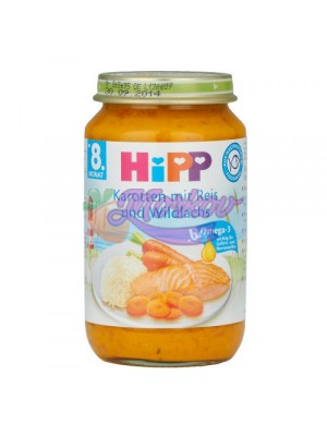 Рибно меню с Моркови, Ориз и дива Сьомга Hipp