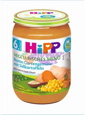 Био Вегетарианско меню градински зеленчуци със сладки картофи Hipp