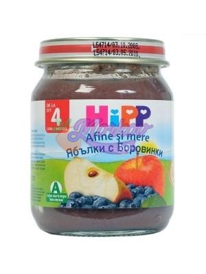 Био Пюре ябълки с боровинки Hipp