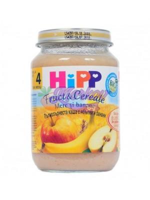 Био Пълнозърнеста каша с ябълки и банани Hipp