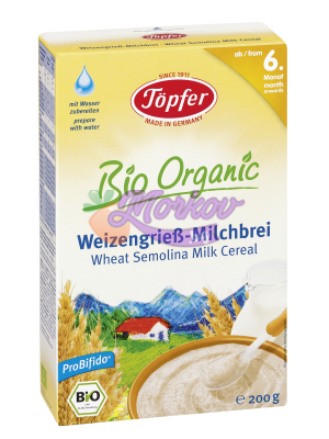 Млечна Био каша с пшеничен грис