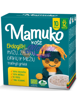 Био Натрошени Овес, Зелена Елда, Ечемик - каша за готвене Mamuko