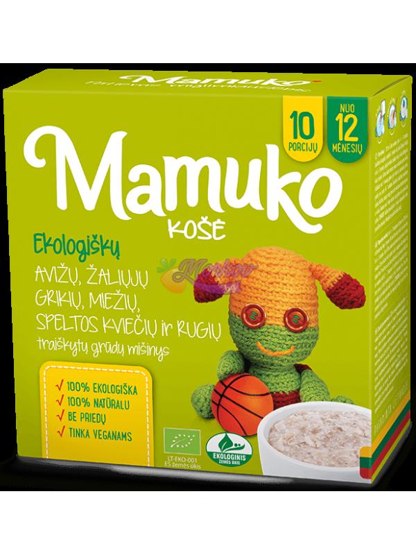 Био Натрошени Овес, Зелена Елда, Ечемик, Спелта и Ръж - каша за готвене Mamuko