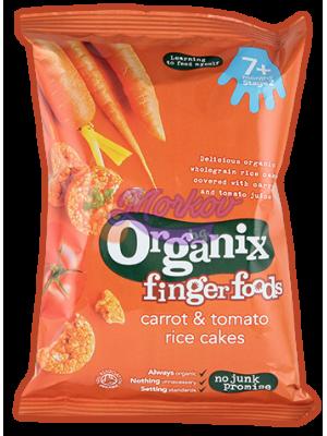 Био оризови бисквити с морков и домат