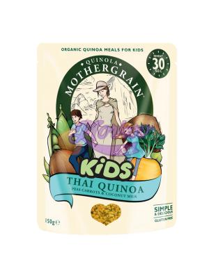 Био Киноа за Деца с Грах, Моркови и Кокосово мляко Quinola