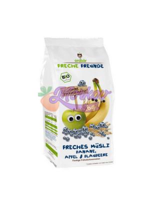Био Зърнена закуска - Мюсли с Банан, Ябълка и Боровинки